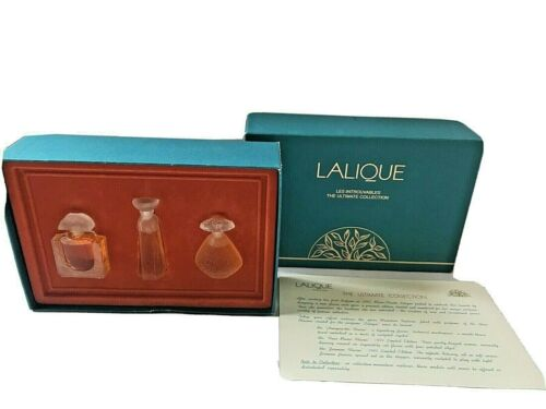 LALIQUE Les Introuvables The Ultimate Collection Perfume Mini Set in Box 3 x .15