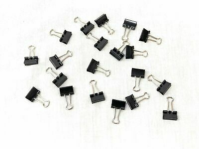Small Binder Clips Steel Wire Office Paper Clips - Multi Order Deal 20 Pieces