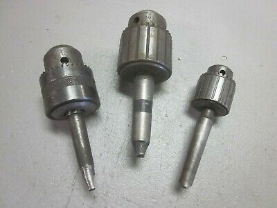 Lot Of 3 Taper Shank Drill Chucks