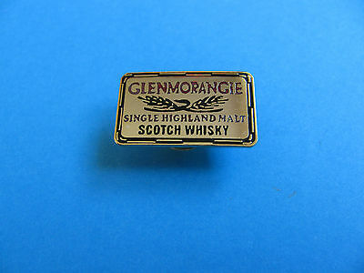 """ GLENMORANGIE "" Scotch Whisky Pin Badge. VGC. Unused. Whiskey. Metal"