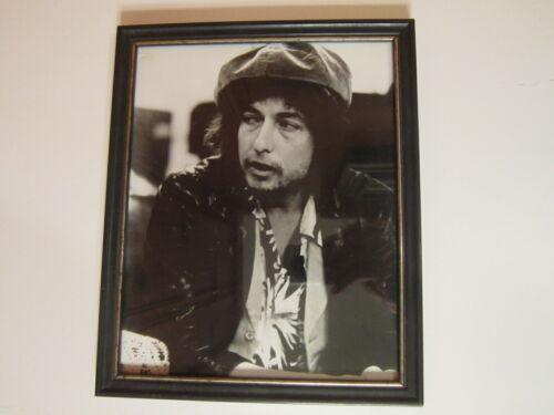 """Vintage Bob Dylan 8x10 B&W 1960""""s Photo Print Black Frame EUC"""