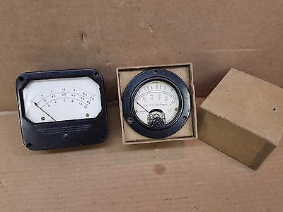 Vintage Lot Of 2 Ham Crystals Other Dc Volts Milliamperes Panel Meters