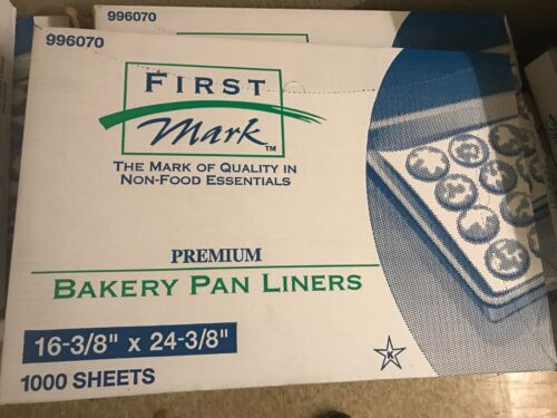 PALLET (38 BOXES) BAKERY PAN LINERS , FIRST MARK 996070