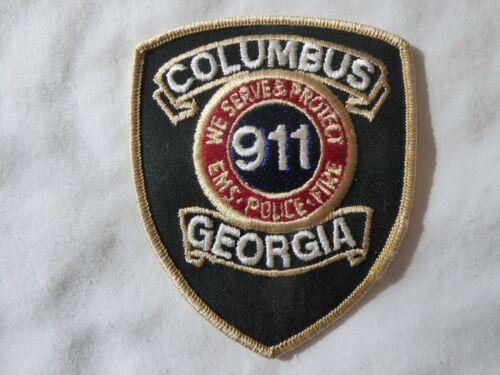 GEORGIA COLUMBUS 911 POLICE UNIFORM EMBLEM PATCH, NEW UNUSED!
