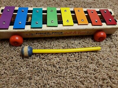 Vintage 1964 Fisher Price Pull A Tune ,Xylophone Toy  Fisher Price Xylophone