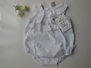 NEW Max and Tilly Baby Girl White Ruffle Romper Onesie Size 0000 Newborn *Gift