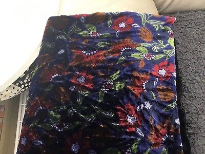 Navy/multi Coloured Velveteen Scarf/shawl From Next - fully reversible