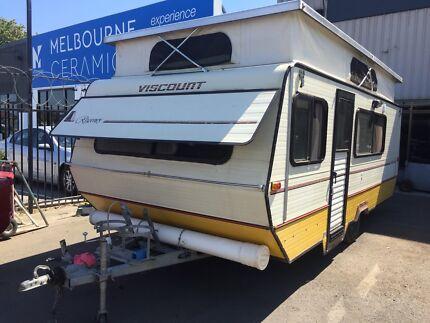 Caravan viscount regency ultralite pop top bunk beds