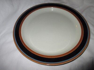 "Vintage Arabia Finland Taika Blue Mustard 33.5cm 13.5""Large Round Platter_b"