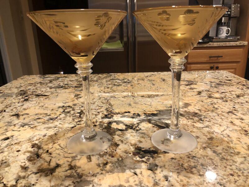 Michael Weems Tommy Bahama Martini Glasses Set of 2