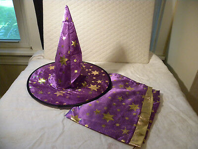 Children Halloween Costume PURPLE Wizard/Witch Cloak &  Hat For Boy Girl-EB43](Girl Wizard Costume)