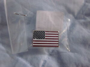 Silver American Flag Lapel Pin just like President Obama wears. USA! Old Glory!
