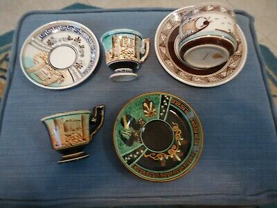 LOT OF HAND MADE AND HAND PAINT VINTAGE  GREECE POTTERY 6 PCS
