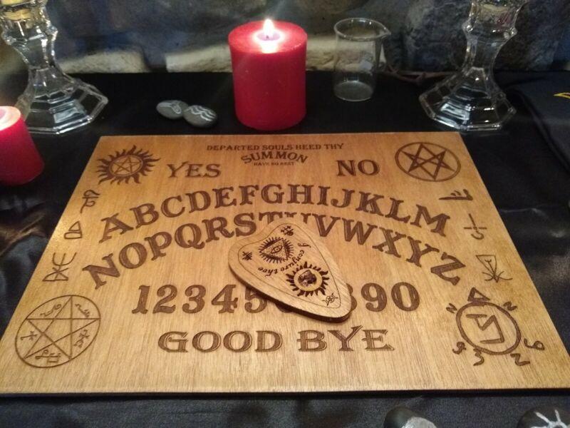 "Supernatural Ouija Spirit Board 12X9"" Witchcraft Communicate With The Dead Quija"