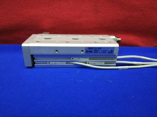 SMC MXS12-50 PNEUMATIC AIR SLIDE TABLE LINEAR STAGE 50mm Stroke