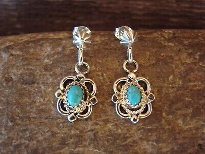 Native American Sterling Silver Turquoise Post Earrings! McCarthy