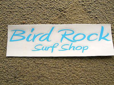 bird rock surf shop surfboard sticker surfing longboard surf la jolla california