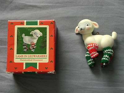 1985 Hallmark Ornament LAMB IN LEGWARMERS