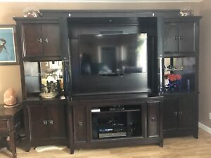 Solid Wood Entertainment Centre and Side Tables!