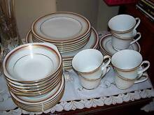 Noritake  'Doral Maroon' Fine China Dinner Set for 6 Airds Campbelltown Area Preview