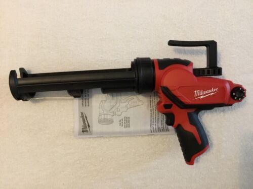 New Milwaukee 2441-20 M12 12V Volt 10 oz. Cordless Caulk and Adhesive Gun Li-ion