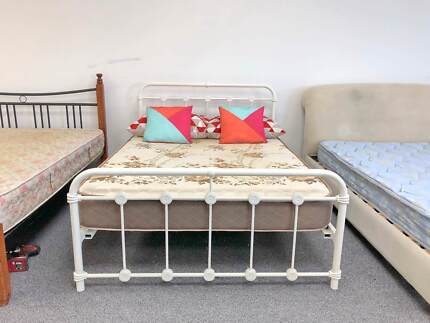 TODAY DELIVERY MODERN DOUBLE BED frame & COMFORTABLE mattress