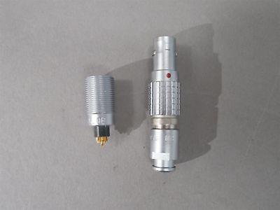 Lemo Connector Mated Pair Ecg.0b.307 Receptacle Fgg.0b.307.cnad31z Plug 7-wire