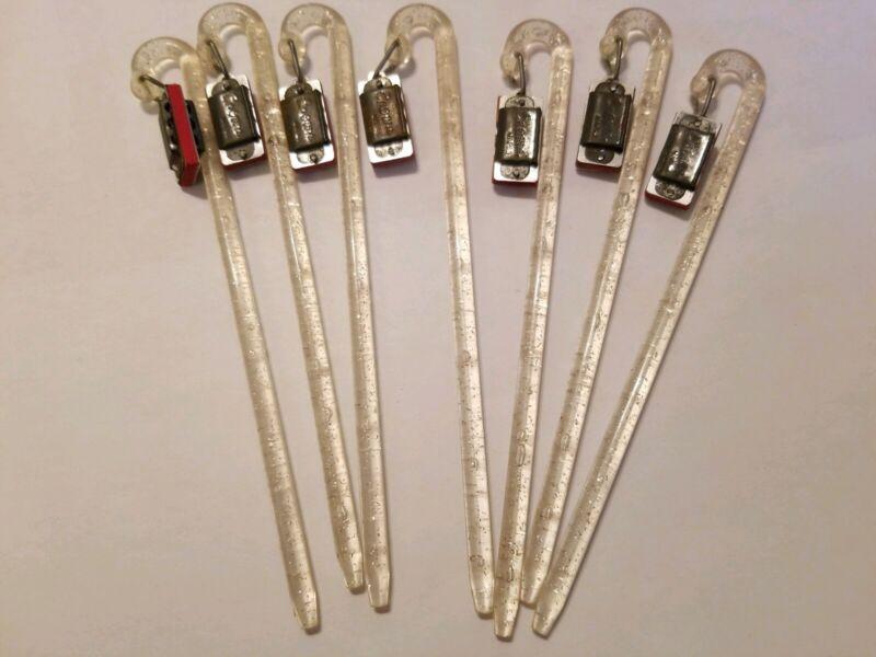 """Vintage Barware Crown Japan LOT of 7 Plastic Swizzle Stir Sticks 6"""""""