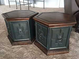 Pair of end tables/hutches with storage