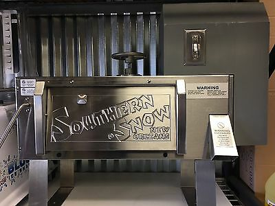 Southern Snow Shaved Block Ice Machine Snoball Maker 120 Volt 34 Hp Motor