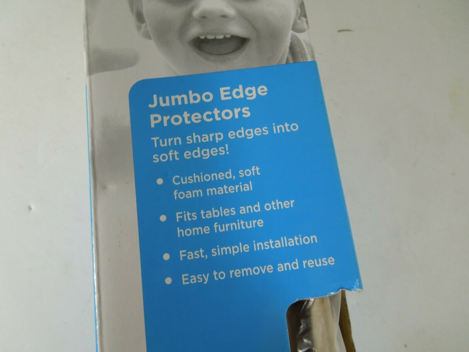 Safety 1st Jumbo Edge Protectors Cushioned Table Bumpers Beige Model 48817A - $15.96