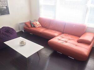 Harvey Norman lounge orange Brighton-le-sands Rockdale Area Preview