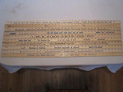 10 Yardstick Wood Wooden Ruler Lot Advertising Sign Color Art Craft Hobby