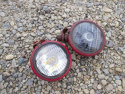 Farmall 300 350 400 450 Tractor Pair 2 Original Working Front Ih 6v Lights Light