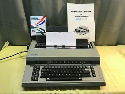 Electric Typewriter By Swintec Ribbon Just Replaced Works Nice Wcover Manual