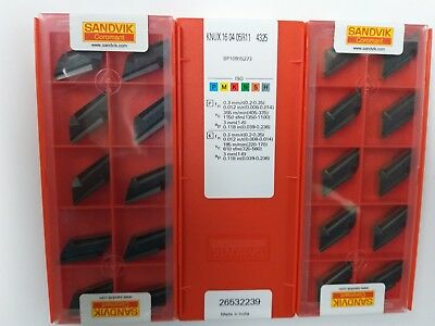 Sandvik Knux 160405r11 4325 Carbide Inserts 10pcs New Original Factory Pack