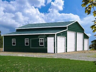 Metal Building Steel Barn 4 Car Garage Shop Pole Barn Kit - 44x31 Free Set-up