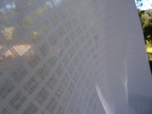 Beautiful White Small Windowpane Dimity Lawn Fabric Soft Hand Dolls,Curtains BTY