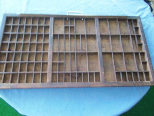 Vintage Printers Type Cabinet Drawer Tray Wood Miniatures Display 32x17