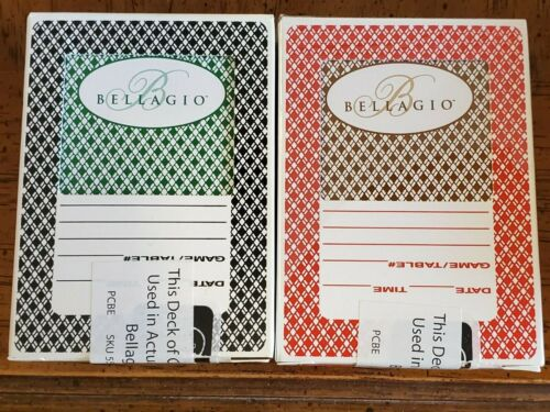 2 Decks (2-Colors) Bellagio Casino Las Vegas Playing Cards.