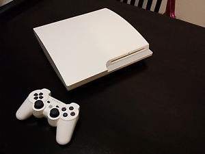 Sony PlayStation 3 Slim White 320GB with 2 Controllers Darch Wanneroo Area Preview