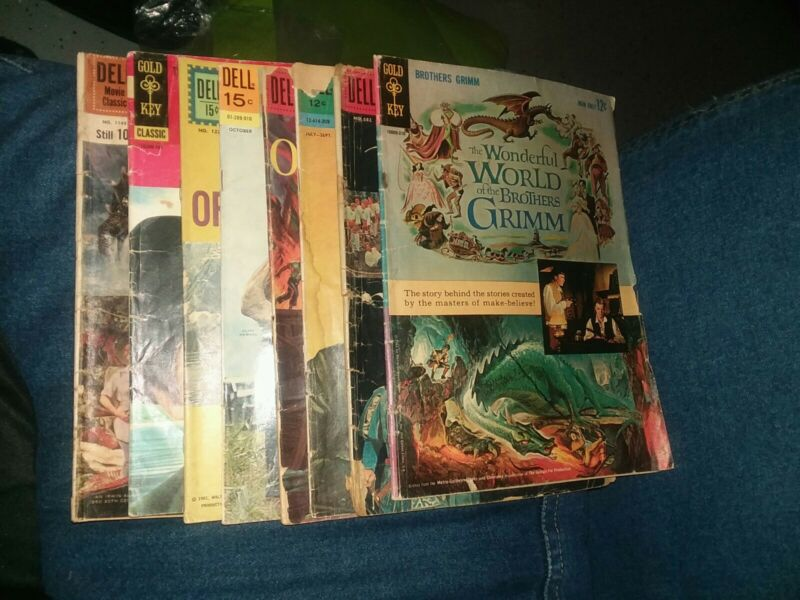 8 Issue Dell Gold Key Movie Classic Lot Run Set Collection Silver Age Four Color