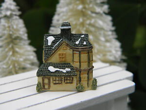 Miniature dollhouse fairy garden christmas tiny 1 snow village manor house - The tiny house village a miniature settlement ...