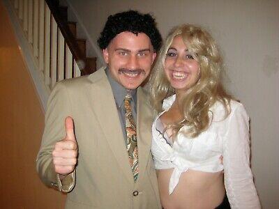 Borat & Pam Anderson Halloween Costumes Wigs - 2 Couples Wigs Men And Women