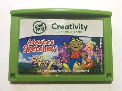 LeapFrog Leapster LeapPad Learning Educational Game Cartridge Adventure Sketcher