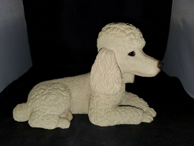 Sandicast White Poodle 1986 Laying Down Figurine