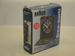 RARE Vintage 90s BRAUN Travel Alarm Clock 3864 AB 314 sl GERMANY  w/ BOX & BOOK