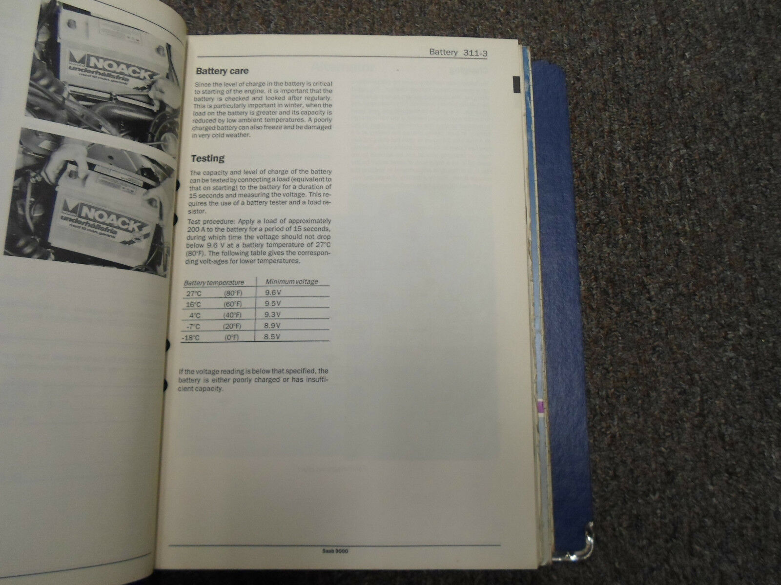1986 1988 Saab 9000 Electrical System Instrument Wiring Diagram 1991 5 Of 11 Service Manual