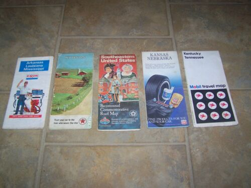 OLD OIL COMPANY ROAD MAPS MOBIL, EXXON,TEXACO,PHILLIPS 66, AND STANDARD