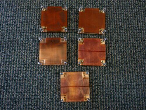 Lot of 5-Copper Heatsinks 4.4 lbs